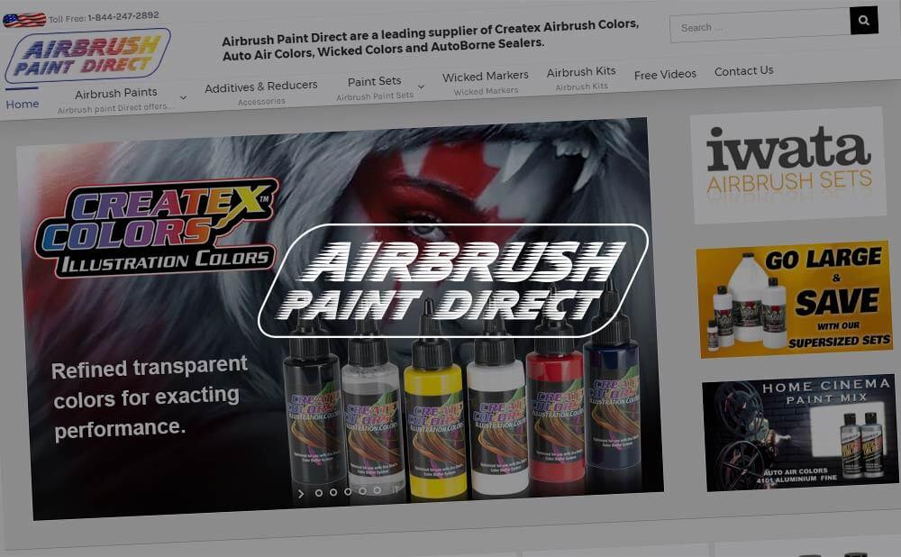 wordpress e-commerce web design - Airbrush Paint Direct US