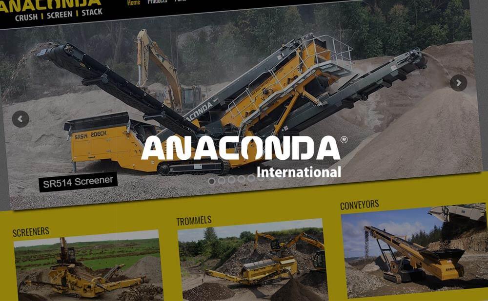 Wordpress website design - Anaconda Equipment Ltd