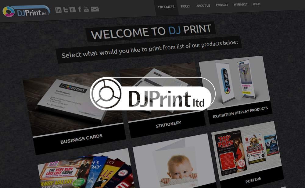 wordpress web design and development - DJ Print