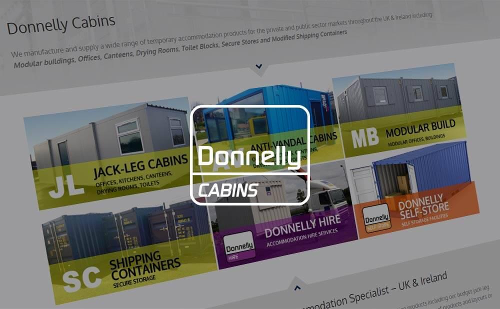 wordpress web design - Donnelly Cabins