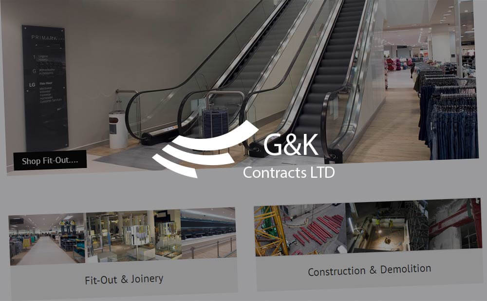 Wordpress web design and development for G and K Contracts Ltd