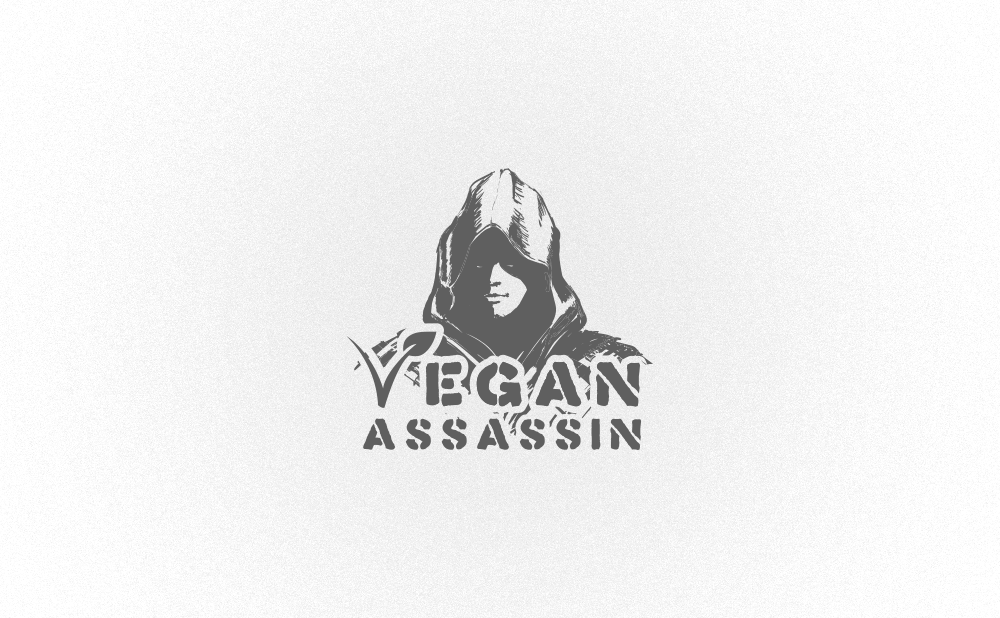 logo design vegan assassin