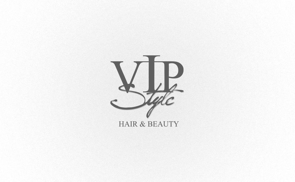 logo design vip style hair beauty