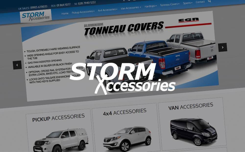 Custom CMS e-commerce website design and development - Storm Exxcessories