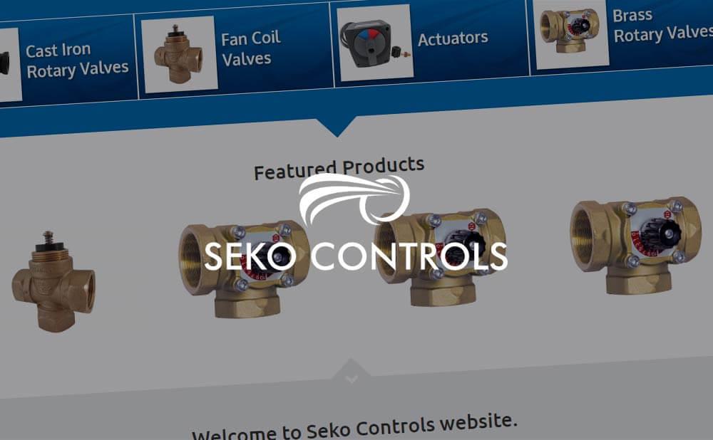 ecommerce wordpress website design - Seko Controls