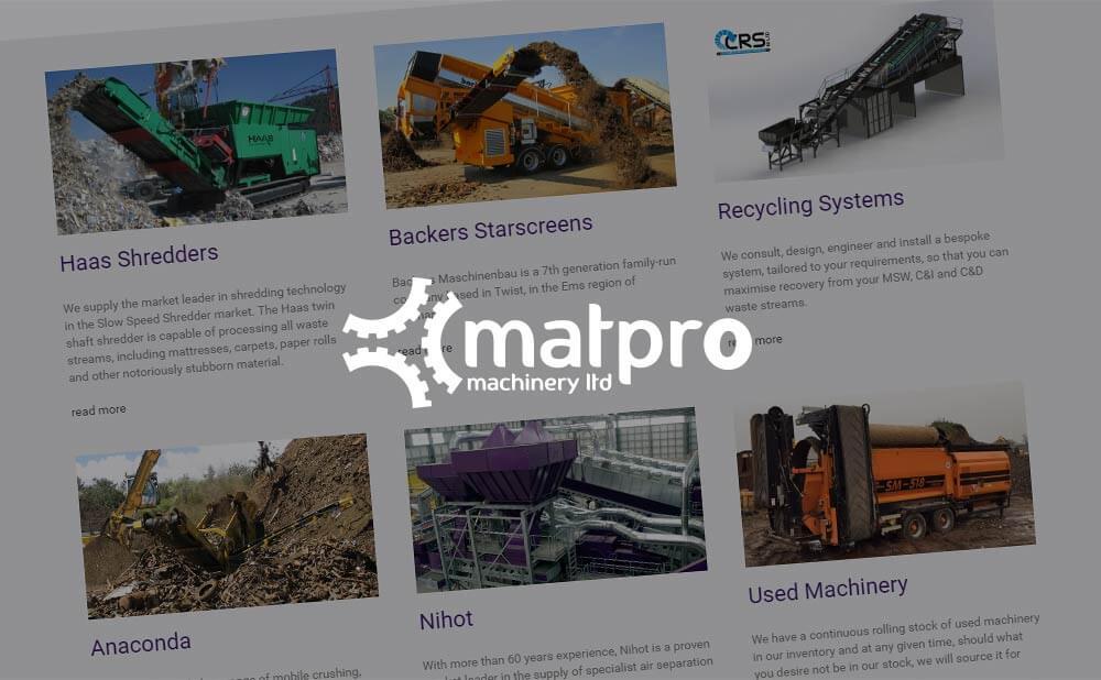Wordpress website design - Matpro Ltd