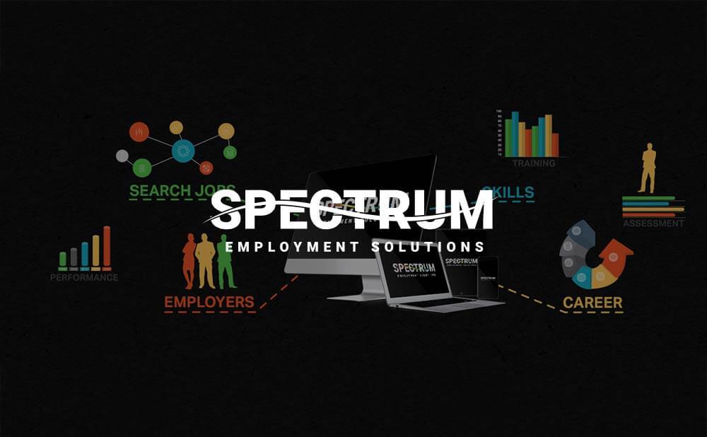 wordpress web design and development - Spectrum Employment Solutions