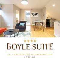 Boyle Apartment Suite Guests will love the modern décor in this two-bedroom apartment suite situated in Dungannon.